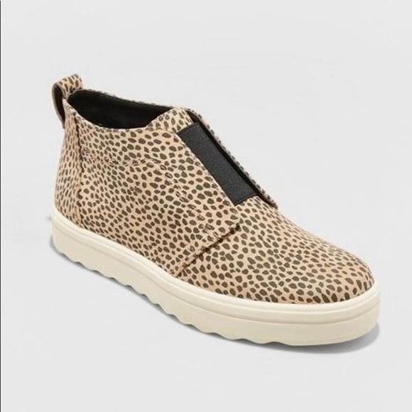 Lilian Microsuede Leopard Print Slip On Sneakers